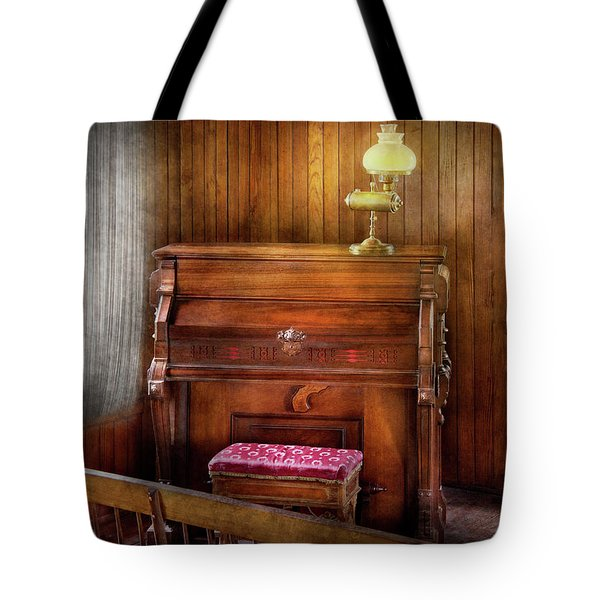 Music - Organist - A Vital Organ Tote Bag by Mike Savad