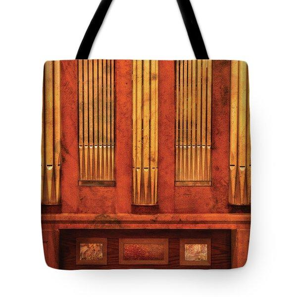 Music - Organist - Skippack  Ville Organ - 1835 Tote Bag by Mike Savad