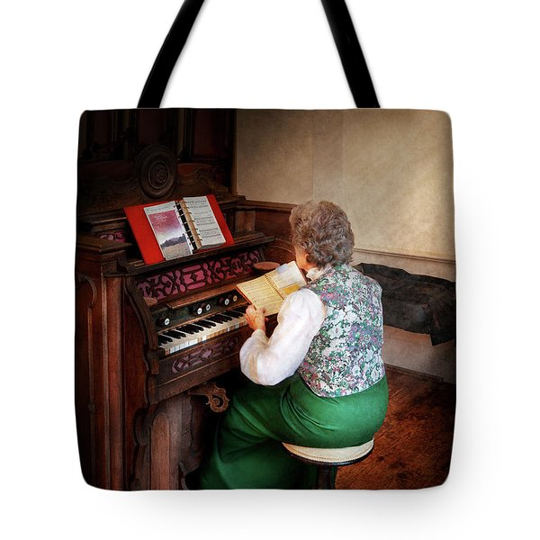 Music - Organist - The Lord Is My Shepherd  Tote Bag by Mike Savad