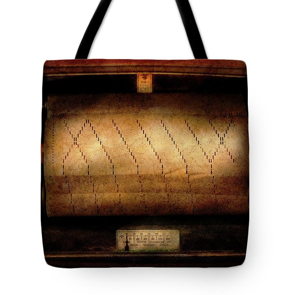 Music - Piano - Binary Code  Tote Bag by Mike Savad