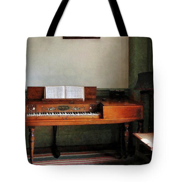 Music Room With Piano Tote Bag by Susan Savad