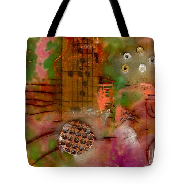 Musical Notes Tote Bag by Angela L Walker