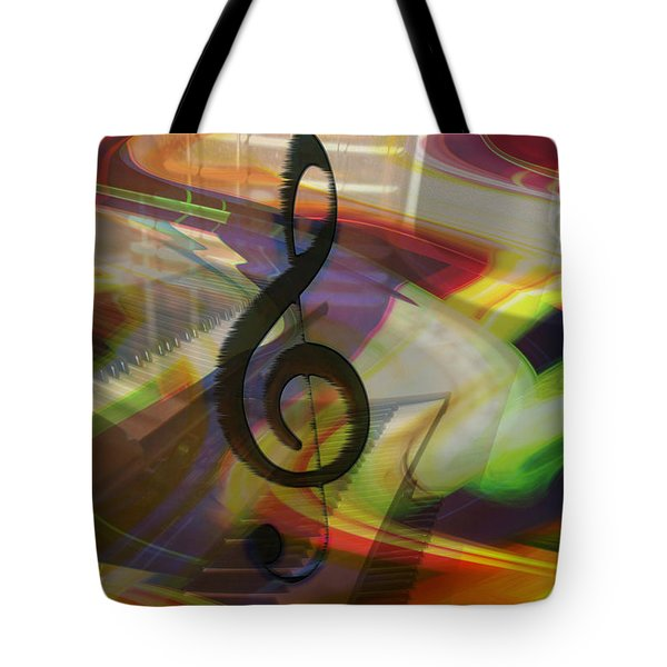 Musical Waves Tote Bag by Linda Sannuti