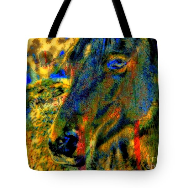 Mustang, A Tribute to Hidalgo Tote Bag by WBK