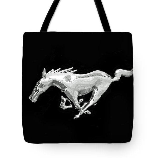 Mustang Tote Bag by Rona Black
