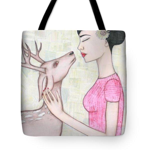 My Deer Tote Bag by Natalie Briney