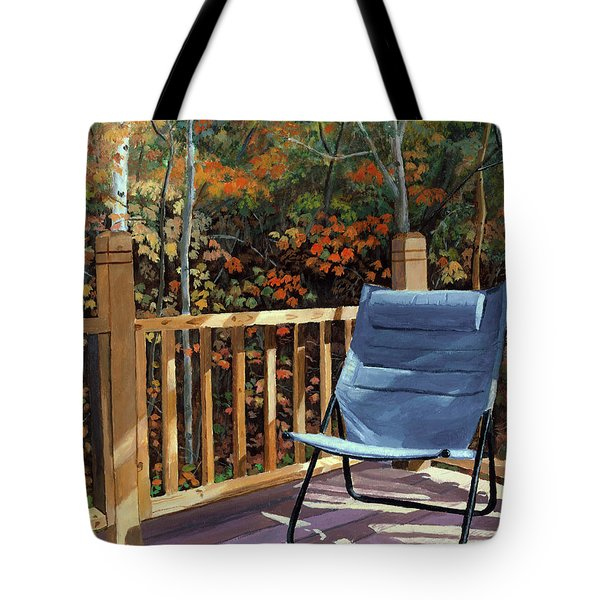 My Favorite Spot Tote Bag by Lynne Reichhart