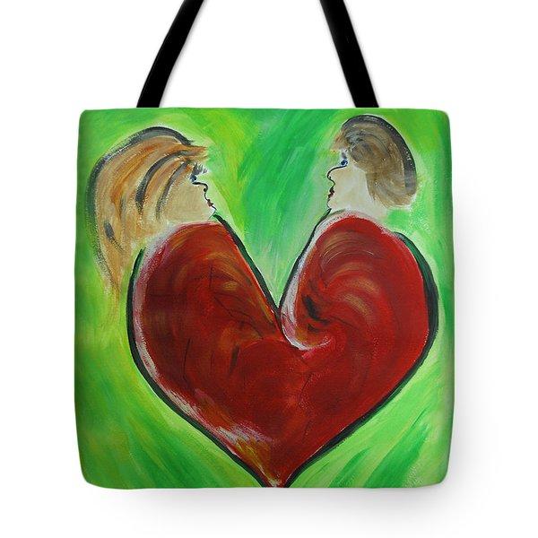 My Funny Valentine Tote Bag by Donna Blackhall