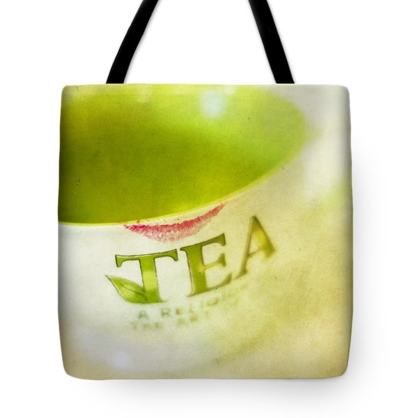 My Second Favorite Beverage Tote Bag by Rebecca Cozart