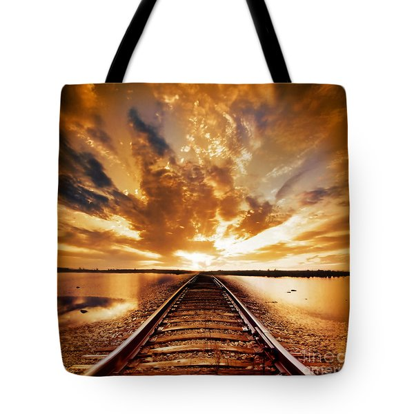My Way Tote Bag by Photodream Art