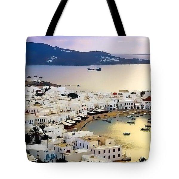Mykonos Greece Tote Bag by Dean Wittle