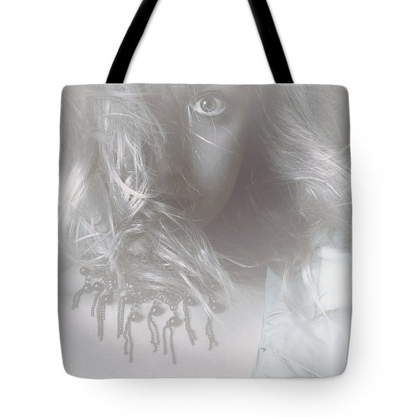 Mysterious Fine Art Fantasy Woman In Forest Mist Tote Bag by Ryan Jorgensen