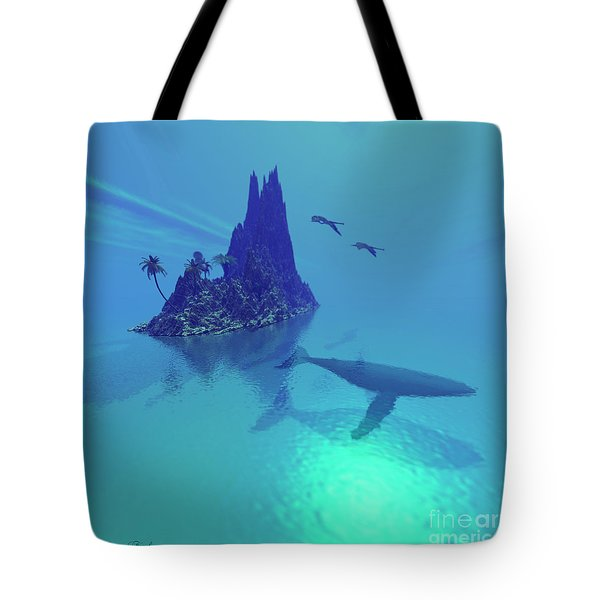 Mystery Island Tote Bag by Corey Ford