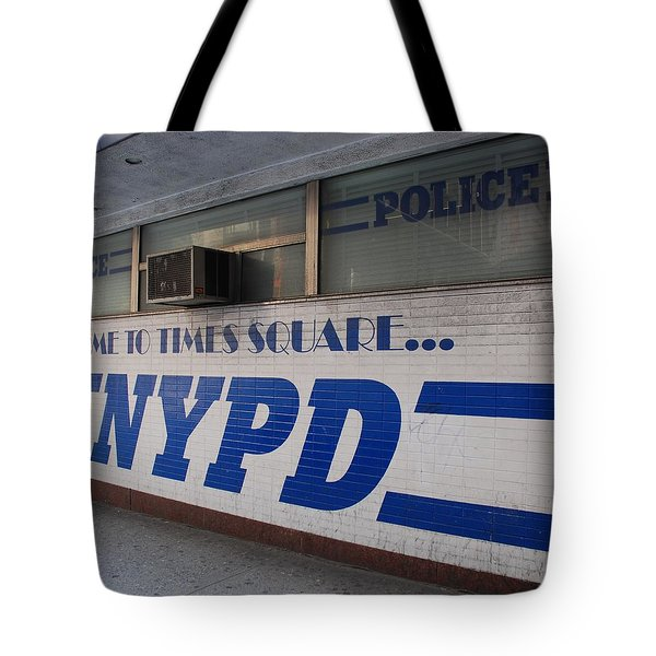 N Y P D Blue Tote Bag by Rob Hans
