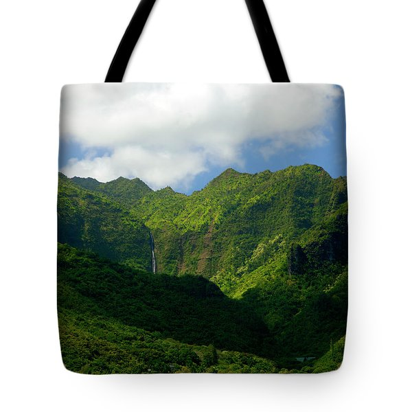Na Pali Green Tote Bag by Mike  Dawson