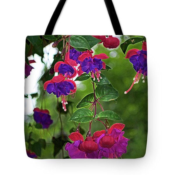 Nan's Fushia Tote Bag by Gwyn Newcombe