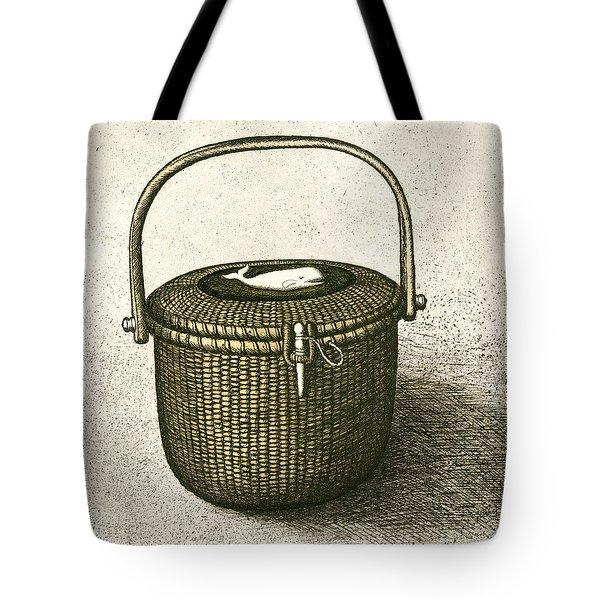 Nantucket Basket Tote Bag by Charles Harden
