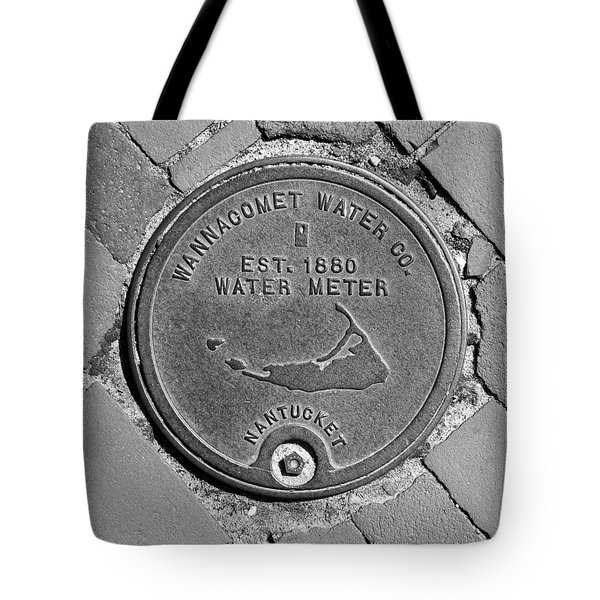 Nantucket Water Meter Cover Tote Bag by Charles Harden