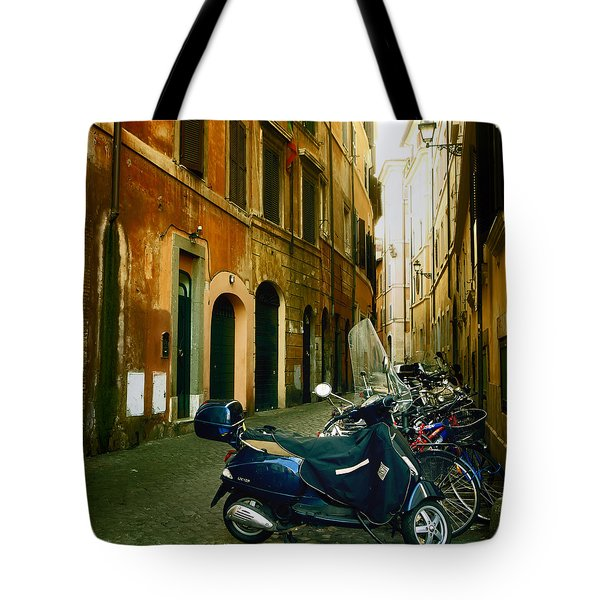 narrow streets in Rome Tote Bag by Joana Kruse