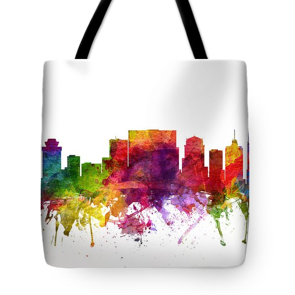 Nashville Cityscape 06 Tote Bag by Aged Pixel