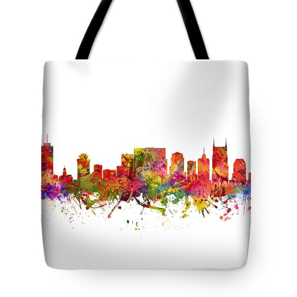 Nashville Cityscape 08 Tote Bag by Aged Pixel