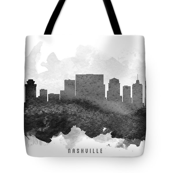 Nashville Cityscape 11 Tote Bag by Aged Pixel