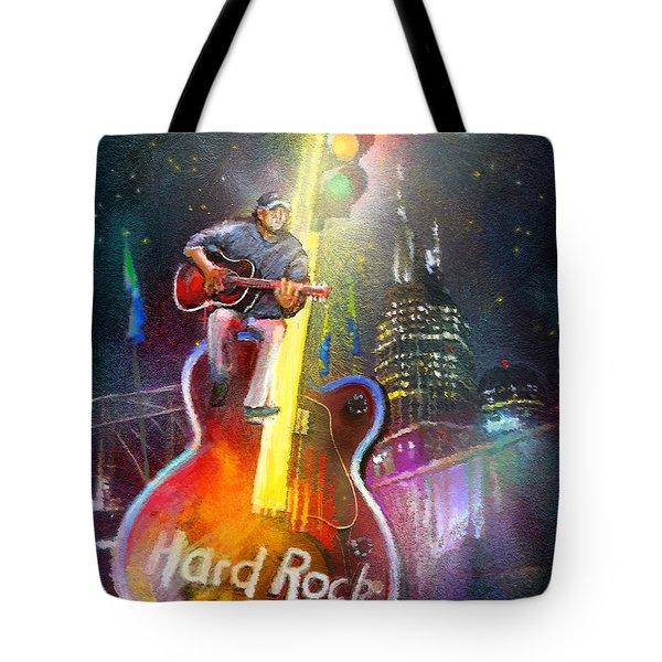 Nashville Nights 01 Tote Bag by Miki De Goodaboom