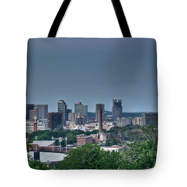 Nashville Skyline 2 Tote Bag by Douglas Barnett
