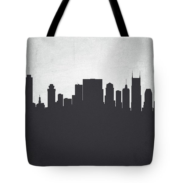 Nashville Tennessee Cityscape 19 Tote Bag by Aged Pixel