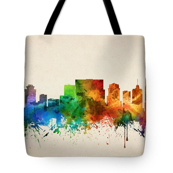 Nashville Tennessee Skyline 05 Tote Bag by Aged Pixel
