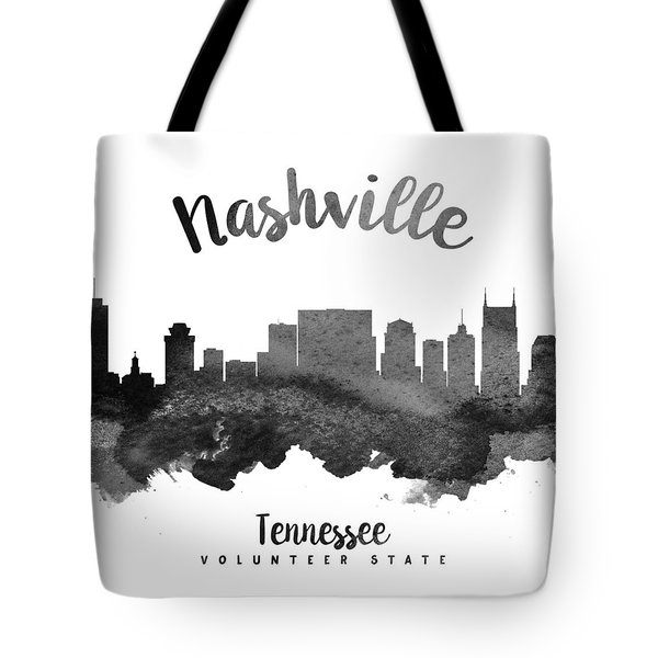 Nashville Tennessee Skyline 18 Tote Bag by Aged Pixel