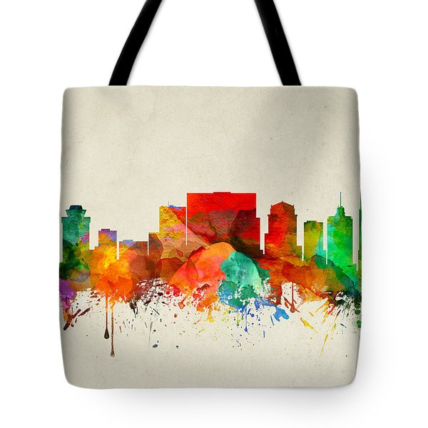 Nashville Tennessee Skyline 22 Tote Bag by Aged Pixel