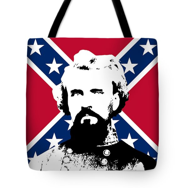 Nathan Bedford Forrest and The Rebel Flag Tote Bag by War Is Hell Store