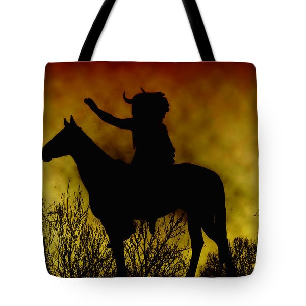 Native American Chief Tote Bag by Bill Cannon