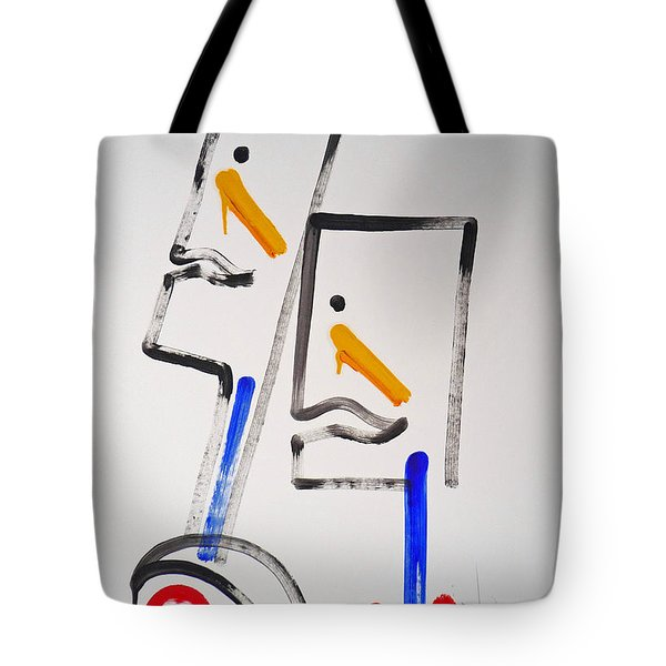 Native Americans Two Tote Bag by Charles Stuart