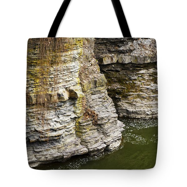 Nature Abstract Rock Cliffs Tote Bag by Christina Rollo