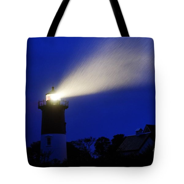 Nauset Light Storm Tote Bag by John Greim