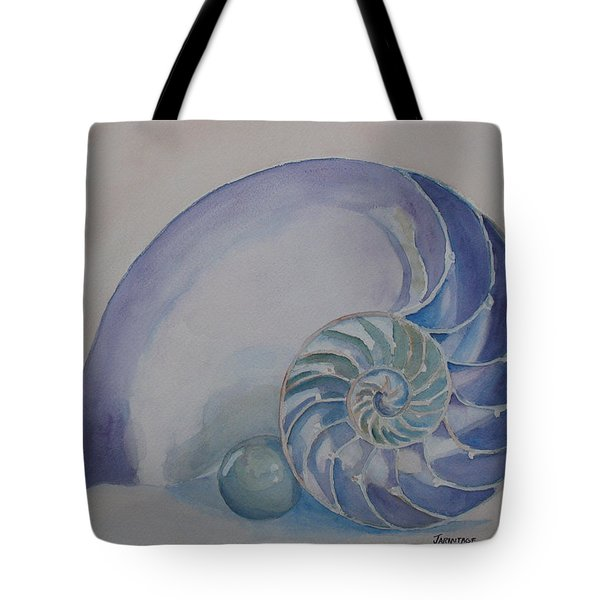 Nautilus With Marble Tote Bag by Jenny Armitage