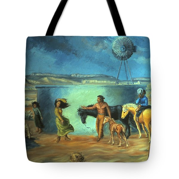 Navajo Love As Long As The Wind Shall Blow Tote Bag by Dawn Senior-Trask