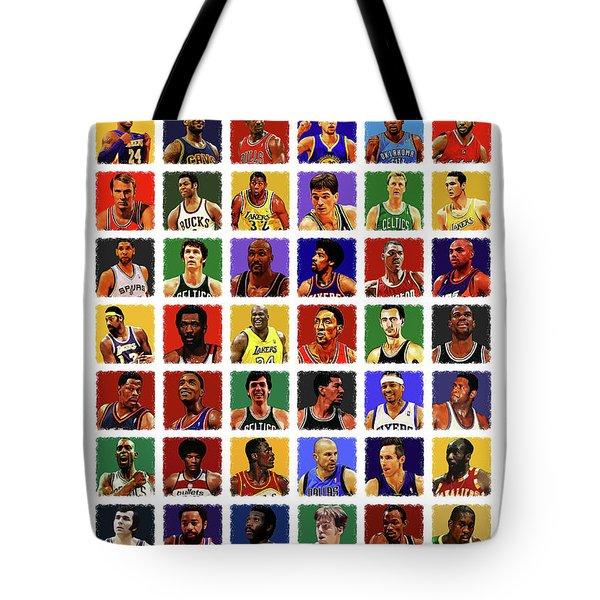 Nba All Times Tote Bag by Semih Yurdabak