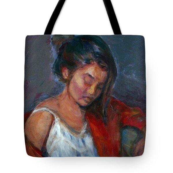 Near Sleep Tote Bag by Quin Sweetman