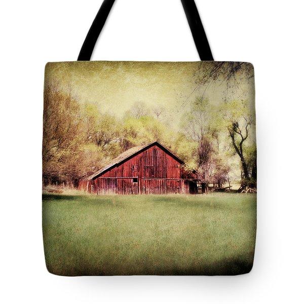 Nebraska Barn Tote Bag by Julie Hamilton