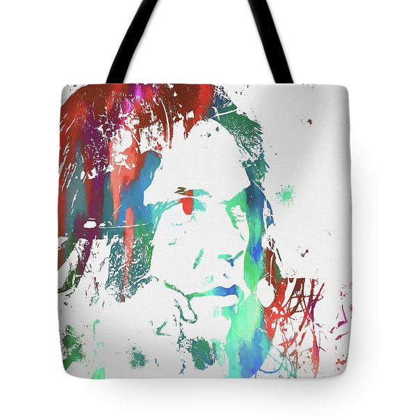 Neil Young Paint Splatter Tote Bag by Dan Sproul