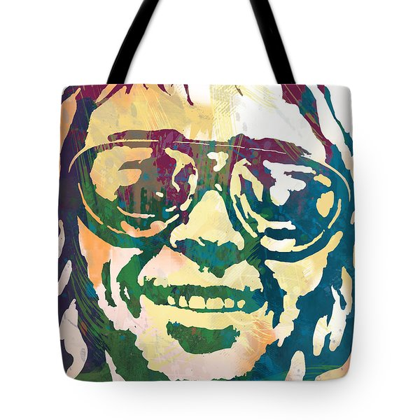 Neil Young Pop Stylised Art Poster Tote Bag by Kim Wang