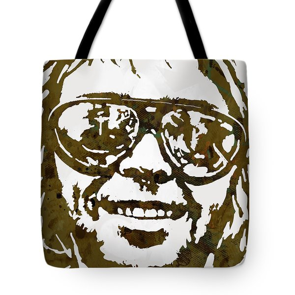 Neil Young Pop  Stylised Art Sketch Poster Tote Bag by Kim Wang