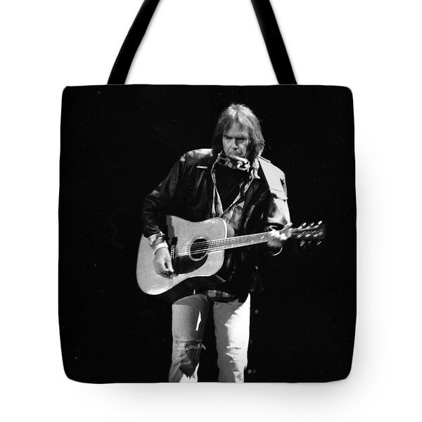 Neil Young Tote Bag by Wayne Doyle