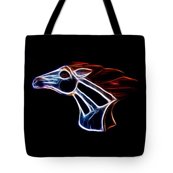 Neon Bronco II Tote Bag by Shane Bechler