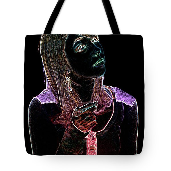 Neon Confrontation Tote Bag by Betty LaRue