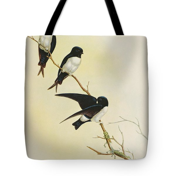 Nepal House Martin Tote Bag by John Gould