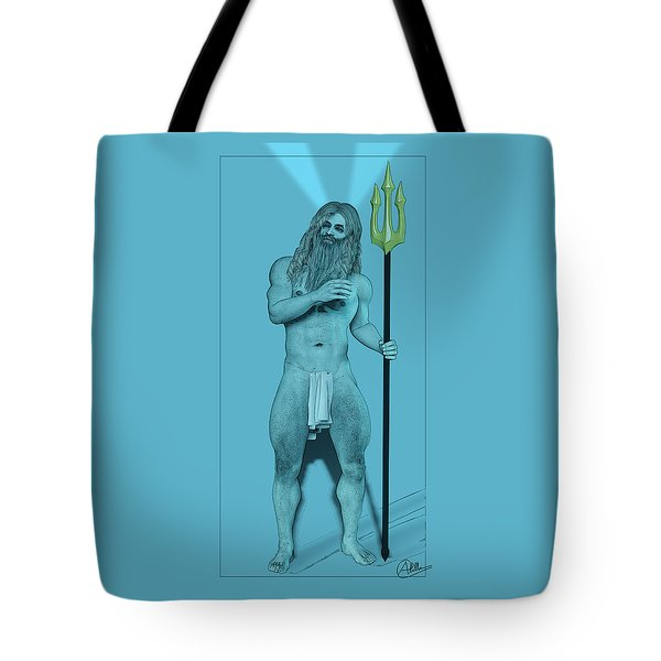 Blue Neptune Tote Bag by Quim Abella